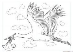How to draw a stork with baby Drawing tutorial Murals For Kids, Art For Kids, Baby Bath Flower, Storch Baby, Baby Stork, Drawing Tutorials For Kids, Oil Painting Techniques, Baby Painting, Baby Girl Photography