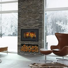 Terrific Absolutely Free Gas Fireplace scandinavian Tips There's only a very important factor better when compared to a roaring fire on a wintry night: a r Propane Fireplace, Open Fireplace, Diy Fireplace, Wood Burning Fireplace Inserts, Electric Fireplace Insert, Free Gas, Contemporary Style, Modern, Contemporary Photographs