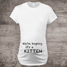 Maternity t-shirt for cat lovers funny novelty message by StoykoTs