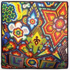 Huichol art, Mexico.