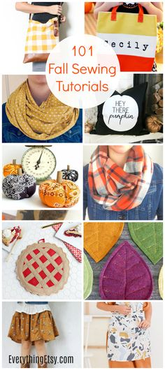 101 Fall Sewing Tutorials {Free Patterns You'll Love!} - EverythingEtsy.com Craft Tutorials, Sewing Tutorials, Craft Ideas, Fall Sewing Projects, Leather Throw Pillows, Mary And Martha, Halloween Quilts, Patchwork Pillow, Pillow Tutorial