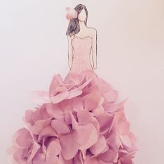 I love to make flowers into beautiful clothing for drawings!