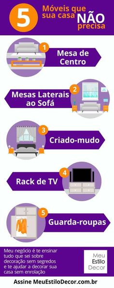 Infográfico 5 móveis que sua casa NÂO precisa