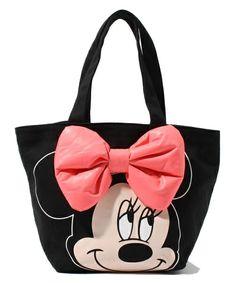 The LDS (El Dee es) [DISNEY / Disney] MINNIE lunch tote (tote bag) | Black system