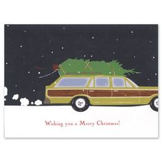 Wagon with Tree Cards - Smudge Ink (