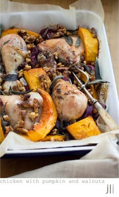 chicken with pumpkin and walnuts