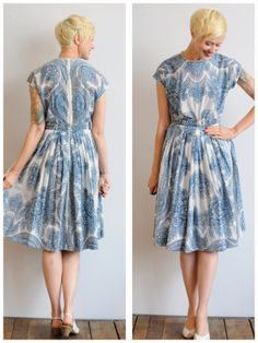 1950s Dress // Mirrored Wall Dress // vintage by dethrosevintage, $96.00