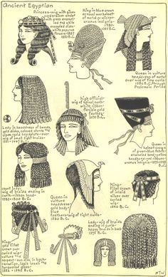 Ancient Egyptian Hairstyles- Plate 2