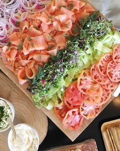 Today's graze table included a bagel bar? along with crudité and charcuterie boards. And also a…