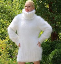 Made to order beautiful thick and fuzzy hand knitted by supertanya