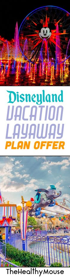 Give yourself something to look forward to and plan by booking a Disneyland vacation layaway plan interest free for $175 down! Disneyland Vacation, Disney Vacation Club, Vacation Deals, Disney Vacations, Disney Trips, Disney Travel, Disney World Outfits, Disney World Trip, Disney Parks