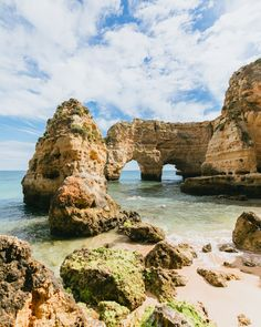 The Ultimate Guide to Portugal's Algarve. — Our Travel Passport Places Around The World, Travel Around The World, The Places Youll Go, Places To Go, Wanderlust Travel, Us Travel, Travel Europe, Best Beaches In Portugal, Myrtle Beach Sc