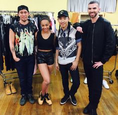 Nia with her team for her music video! She is getting her hair done and getting fitted for a custom made costume. Her music video will be shot today!