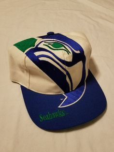 9fb547804f4 Vintage SEATTLE SEAHAWKS The Game BIG LOGO Football Snapback Hat SEATTLE Cap  NFL  TheGame