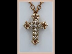 3D Cross with Montee Embellishments Pendant - YouTube