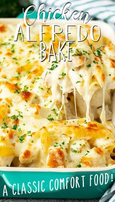 Cooked Chicken Recipes, Baked Pasta Recipes, Baked Chicken Alfredo Recipe Easy, Best Alfredo Pasta Recipe, Baked Pasta With Chicken, Easy Chicken Pasta Bake, Creamy Pasta Bake, Cheese Pasta Bake, Baked Penne Pasta