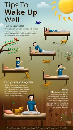Infographic - Tips to Wake Up Well - Gesunde Gewohnheiten - Health Health Facts, Health And Nutrition, Health Tips, Health Fitness, Health Yoga, Fitness Facts, Brain Health, Fitness Before After, Reto Fitness