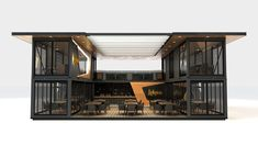 Nächster Container // Lokma on Behance - warehouse plan Cargo Container Homes, Container Shop, Building A Container Home, Container Buildings, Container Architecture, Container House Design, Architecture Design, Container Cabin, Sustainable Architecture