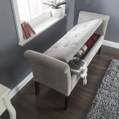 Balmoral Chenille Upholstered Window Seat – Next Day Delivery Balmoral Chenille Upholstered Window Seat Corner Dining Bench, Corner Window Seats, Corner Sofa Bed With Storage, Corner Seating, Living Room Bench, New Living Room, Alcove Ideas Living Room, Cinema Room Small, Home Cinema Room