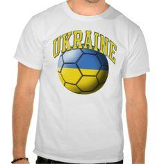 Ukraine Soccer Ball T-Shirt #soccer #futbol #football #tees #sports #tshirts #shirt #ukraine