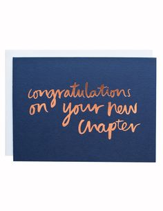 New Chapter foiled greeting card Old Phone, Pep Talks, New Chapter, Congratulations, Greeting Cards, News, Adulting, Graduation, Homes