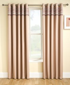 Siesta Blockout Eyelet Ready Made Curtains KIV for room 3 of Moyle & De Q .Only available as narrow 66 inches width A width of 90 inches not available Curtain Fabric, Curtains, Cream Curtains, New Homes, House, Home Focus, Home Decor, Curtains Uk, Fabric Bed