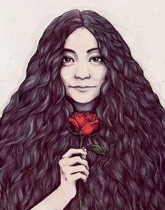Beautiful portrait illustrations of girls by Soleil Ignacio