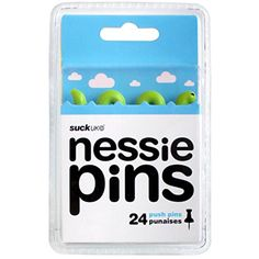 SUCK UK Novelty Push Pins - Nessie Suck UK http://www.amazon.com/dp/B00BCH3AI4/ref=cm_sw_r_pi_dp_6gRwwb0PMSJMV