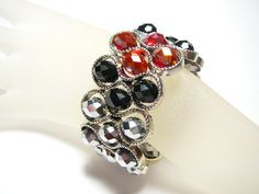Sparkling silver and red Infinity cuff