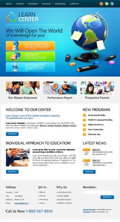 236 best web design images on pinterest web layout website layout free education website template for learn center webtemplate see more template at stylendesigns maxwellsz