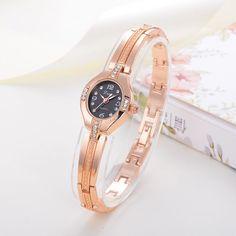 Fashion Ladies Women Unisex Stainless Steel Rhinestone Quartz Wrist Watch Cheap Watches, Sport Watches, Watch Brands, Women's Fashion Dresses, Fashion Watches, Gold Watch, Bracelet Watch, Women's Watches, Quartz