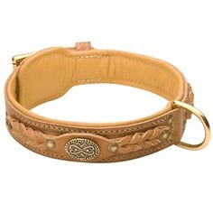 This Designer #Leather #Dog #Collar will show your #pet how much you love him/her, by providing your dog with maximum comfort and adding elegance to the appearance of your #canine. $59.90