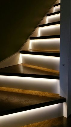 Oak Staircase Cladding is a far cheaper alternative to removing and replacing your whole staircase. The Treads and risers are fixed on top of your old staircase so that they look as if they were originally built of oak. #stairs #staircase #banister #reiser #step #steps #balustrade #chrome #illumination #led #light #handrail #oak #cladding #renovation