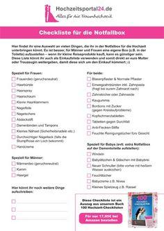 Notfallbox Hochzeit Checkliste