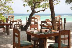 Restaurant at Soneva Fushi Resort, Maldives