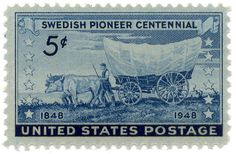 Old Us Postage Stamps Value | Stamp / USA: Swedish pioneer centennial 1848-1948 / United States 1948 ...