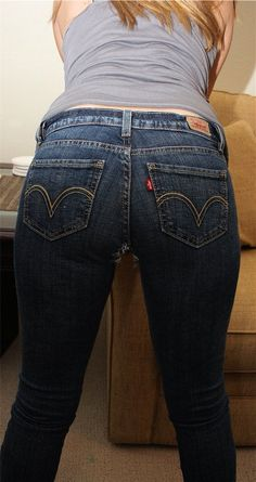 Butt fetish jeans levi tight