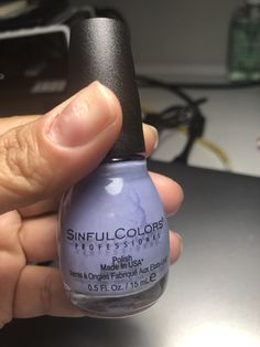 Sinful Colors - Spellbound Lilac lavender purple with silver shimmers Lilac, Lavender, Purple, Sinful Colors, Nail Polish Collection, Swatch, Nails, Silver, Ongles