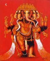 Ganesha-1 Painting By Suresh Gulage