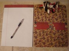 Sock Monkey Clipboard with matching pen and by Luckycharmsthree