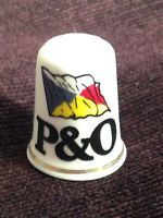 Thimble - P&O Ferries - Bone china made in England (CODE 724)