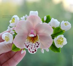 Купить Prinсess of flowers. Rose (зажим) - подарок, свадебное украшение, заколка с цветами
