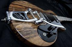 'Hound Dog' Melody Maker shape guitar by Ambler Custom Guitars (http://amblerguitars.com) Bigsby tremolo - Photography - Ten Fathoms
