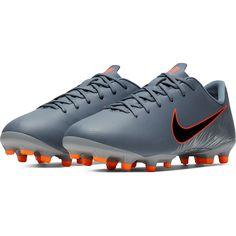 d067db1f0 Nike Junior Mercurial Vapor XII Academy GS MG Multi Ground Soccer Shoe  Armory Blue Black Wolf Grey Hyper Crimson-1