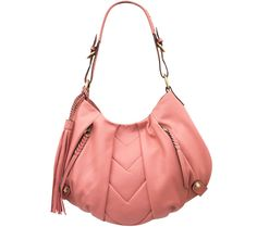 Choose a bag to fit every occasion with this versatile hobo boasting smooth, supple leather and a chic chevron design. Two front-wall pockets and a variety of interior pockets keep you pulled together in current style. Best Handbags, Tote Handbags, Cute Purses, Purses And Bags, Bags 2017, Beautiful Bags, Smooth Leather, Shoulder Bag, Chic