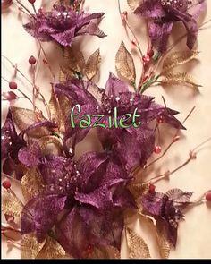 Titanyum çalışma Abaya Fashion, Beaded Flowers, Headpiece, Blog, Floral Wreath, Wreaths, Embroidery, Beads, Drawings