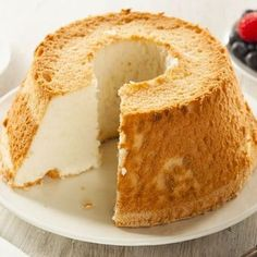 BBC Food Recipes Angel Food Cake With Lemon Curd. Angel Food Cake With Dark Chocolate Ganache Sainsbury's . Cake Recipes Uk, Sweet Recipes, Dessert Recipes, Kraft Recipes, Yummy Recipes, Food Cakes, Cupcake Cakes, Torta Angel, Angel Cake