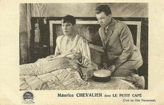 Maurice Chevalier. Belgian postcard. Card for the Cine-Palace, Brussels, where the film ran 2-8 October 1931. Le petit café (Ludwig Berger, 1931) was the French language version of Playboy of Paris (Ludwig Berger, 1930).