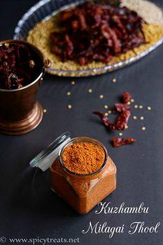 Spicy Treats: Kuzhambu Milagai Thool Recipe | Homemade Chilli Powder Recipe | Chilli Powder Recipe For South Indian Curry