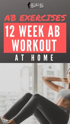 Ab Exercises: 12 Ab workouts at home Ab Exercises: 12 Ab workouts at home to firm the abs and help you get a flat stomach. You can use these workouts as a 12 week plan. 12 Week Workout Plan, 6 Pack Abs Workout, Flat Tummy Workout, Workout Routine For Men, Ab Workout At Home, At Home Workouts, Workout Men, Workout Plans, Ab Exercises